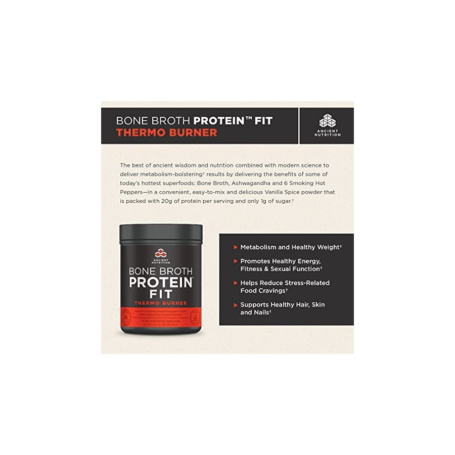 Ancient Nutrition Bone Broth Protein FIT Thermo Burner (Powder)