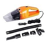 Emwel Vacuum Cleaner Cars, Wet And Dry Dual - Dual-Use Super Suction 5 Meter 12 v, Portable Handheld Vacuum Cleaner,Christmas present (Orange)