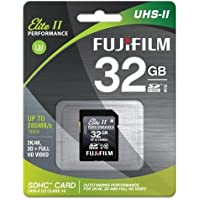 Fujifilm 32GB UHS-II Elite II Performance U3 Class 10 SDHC Card, 285MB Transfer Speed