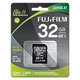 Fujifilm 32GB UHS-II Elite II Performance U3 Class 10 SDHC Card, 285MB Transfer Speed