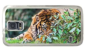 Hipster cheap Samsung Galaxy S5 Cases hidden tiger PC Transparent for Samsung S5