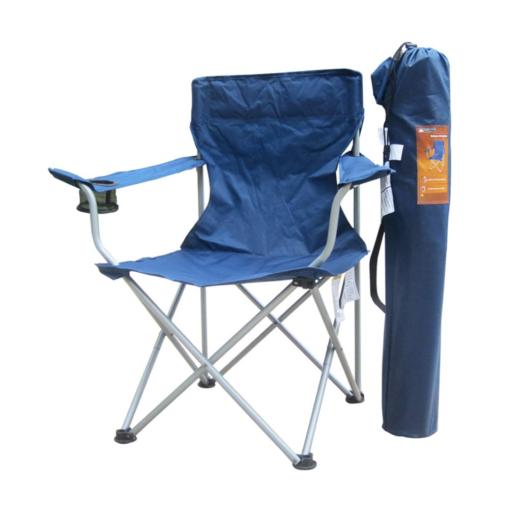 DHMHJH Outdoor Leisure Folding Chair with Armrest Light Portable Fishing Chair Beach Train Folding Chair by DHMHJH