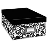 Pioneer Photo Albums B-1BW Photo Storage Box, Damask Design