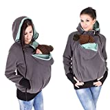 Exclusive Version-NeuFashion Double Thick REAL Baby carrier hoodie jacket Kangaroo coat/jacket Women Maternity Pregnant Top Baby Wearing Baby Holder Fleece Hooded Sweatshirt