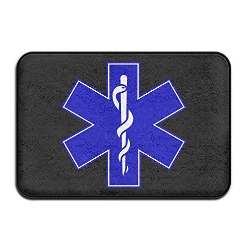 HENDOOR Medical Symbol Non-Slip Doormat Door Rug for Indoor,Outdoor,Entrance,Patio,Bathroom,Kitchen,Living Room,Bedroom,Office,Etc by HENDOOR