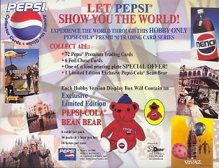 PEPSI PREMIUM 2000 DART PROMOTIONAL SELL SALE SHEET