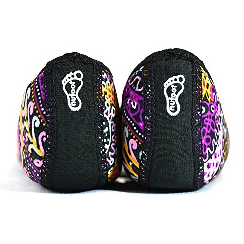 NuFoot Fuzzies Ballet Flats Women's Shoes, Best Foldable & Flexible Flats, Slipper Socks, Travel Slippers & Exercise Shoes, Dance Shoes, Yoga Socks, House Shoes, Indoor Slippers, Paisley, Large by Nufoot (Image #2)