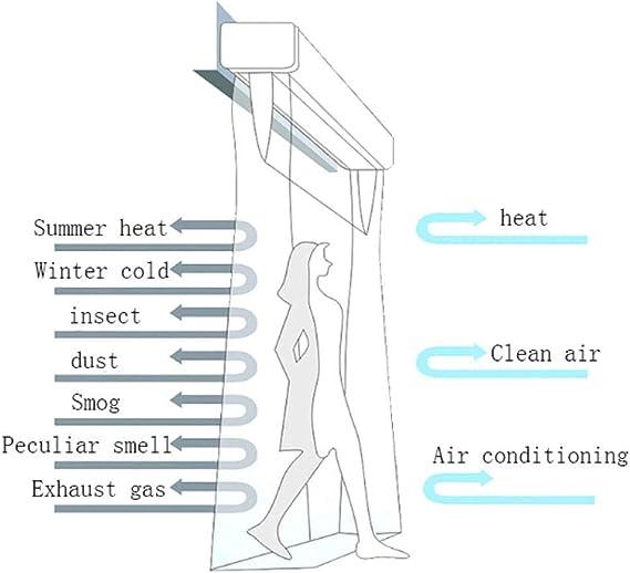 con Control Remoto Montado En La Pared F/ácil De Instalar Super Thin Alloy Case Gxing Cortina De Aire para Puerta Comercial//Interior En Casa