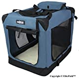 EliteField 3-Door Folding Soft Dog Crate - Indoor & Outdoor Pet Home - Multiple Sizes and Colors Available (36