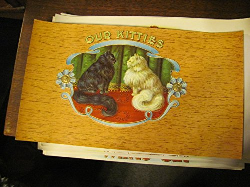 OUR KITTIES 1920s 6X9 inner cigar box label, mint, ()