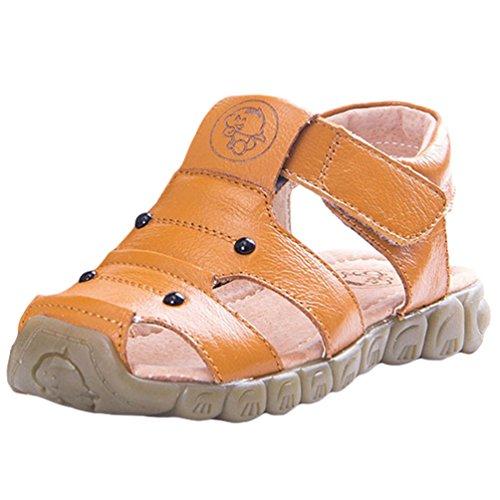 CHENGYANG Unisex-Kinder Geschlossene Outdoor Anti-Rutsch Sandalen Sommer  Strand Schuhe Gelb