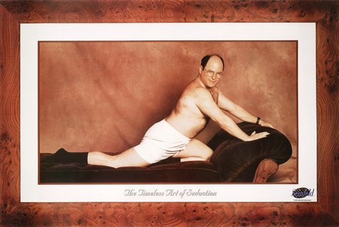 Black Wood Framed Seinfeld Tv Show Poster George Costanza the Timeless Art of Seduction