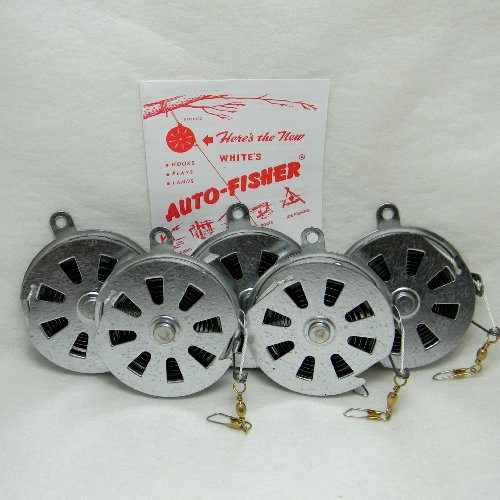 White s Auto Fisher Yo Yo Fishing Reel Automatic 5 Reels