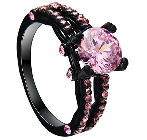 Bishilin-Black-Gold-Plated-AAA-Pink-Cubic-Zirconia-Cz-Stone-Women-Wedding-Engagement-Black-Ring