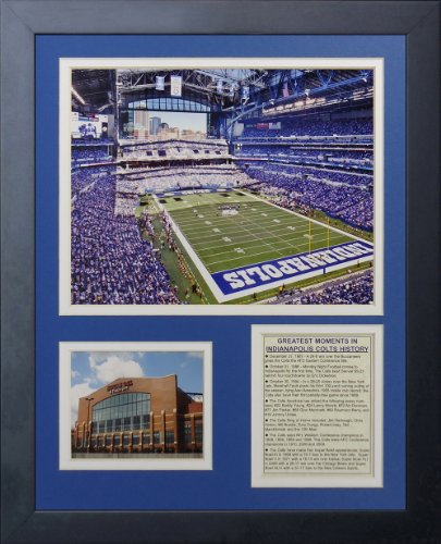 Indianapolis Colts New Stadium - Legends Never Die Indianapolis Colts Stadium Framed Photo Collage, 11 by 14-Inch