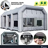 Inflatable Paint Booth 39x20x13Ft with Blower