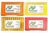 tamarinda Glycerin Soap – 4 Bar Tropical Collection
