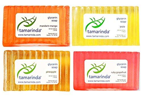 (tamarinda Glycerin Soap - 4 Bar Tropical Fruit Collection)