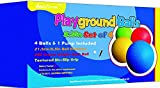 8.5 Inch Playground Balls (Set of 4) with 1 Hand Pump