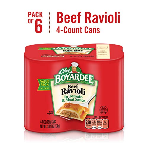 - Chef Boyardee Beef Ravioli, 15 oz, Pack of 24