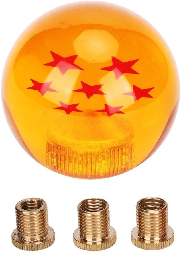 Gorgeri Universal Car Dragon Ball Schaltknauf Schalthebelgriff mit Adapter Ersatz 6 Sterne