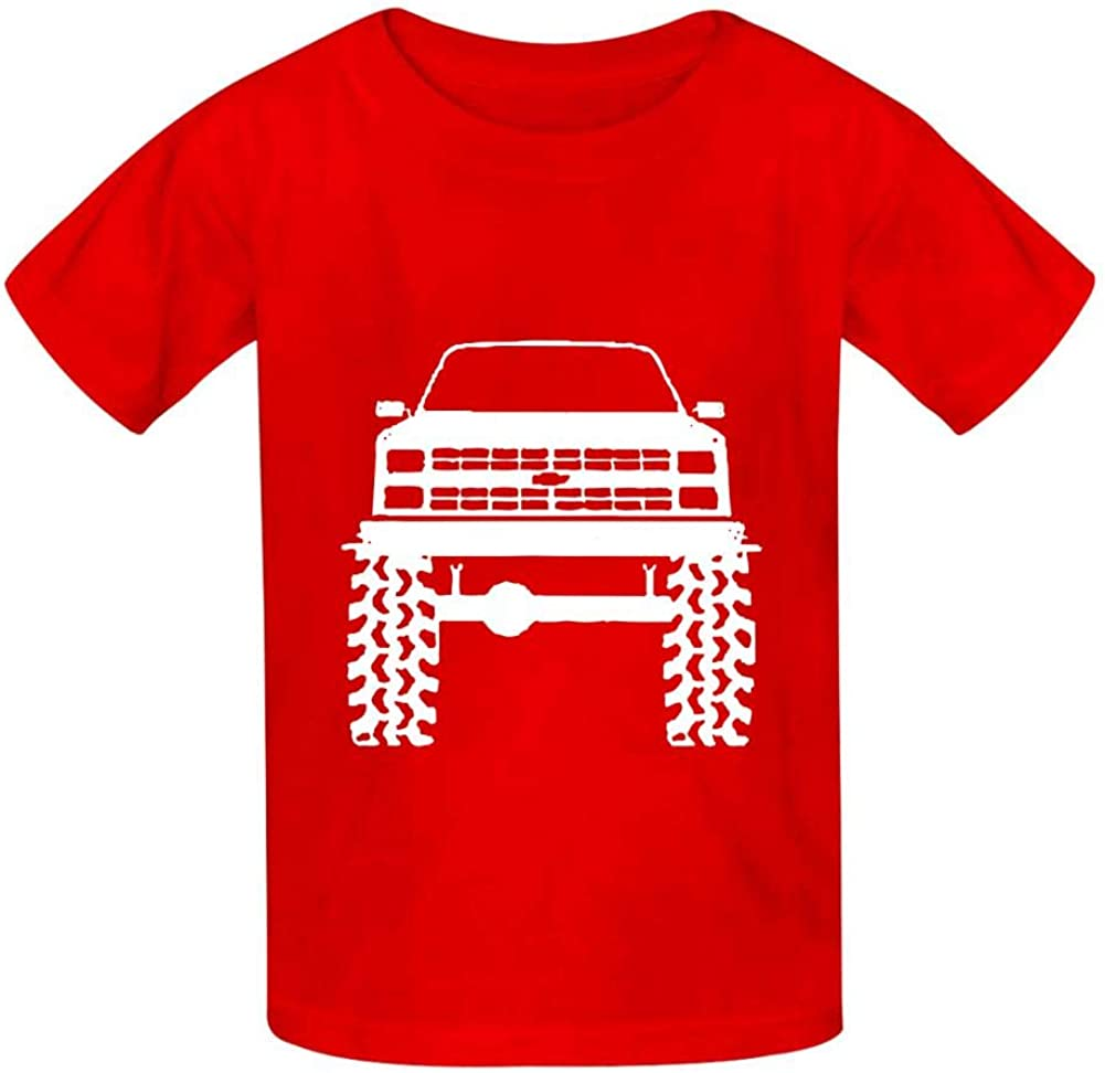 1980s 90s K5 Blazer Lifted Mud Tires Truck Childrens Comfortable and Lovely T Shirt Suitable for Both Boys and Girls