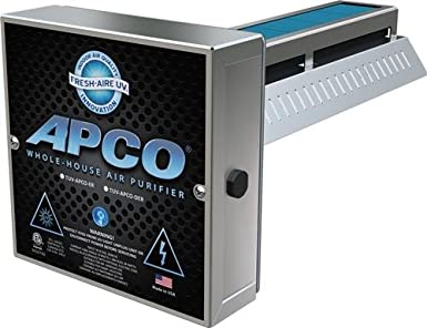 apco tuvapcoer2 whole house uv air purifier 2 year lamp 24v