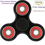 #6: Prime Only Fidget Spinner High Speed Stainless Steel Bearing ADHD Focus Anxiety Relief Toys-(Black-Red)