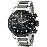 Seapro de los hombres sp6122Coral Analog Display reloj dos Tono de cuarzo suizo