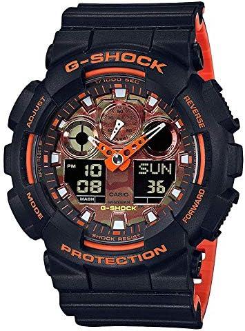 G-Shock GA-100 Ana-Digi Black Orange