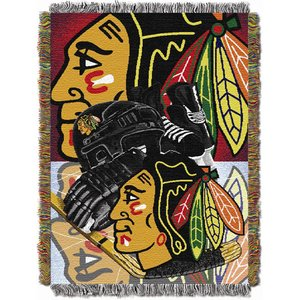NHL Chicago Blackhawks Homefield Ice Advantage Woven Tapestry Throw, 48