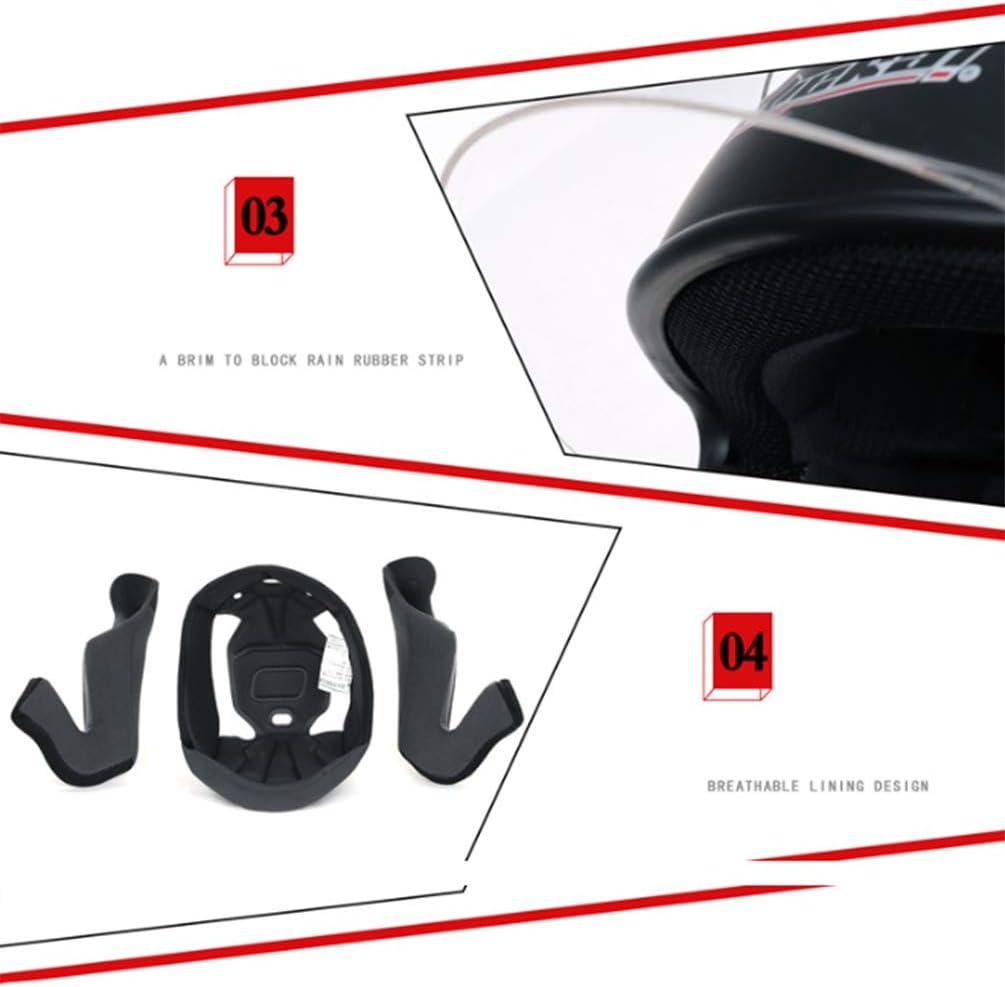 VOVSO Casco Integrale da Moto Casco Moto Cross Casco da Corsa DOT Certificata Gli Uomini E Le Donne Quattro Stagioni Casco Moto A-M 53~55cm