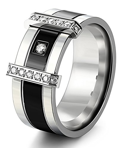 Besteel Zirconia Stainless Classic Wedding