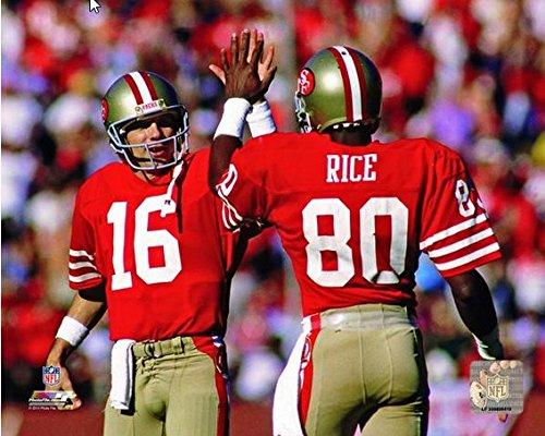 [Joe Montana Jerry Rice San Francisco 49ers NFL Action Photo (Size: 8