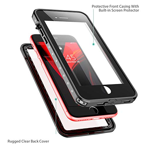 Redpepper for iPhone SE 2020 Waterproof case,iPhone 7/8 Waterproof Case, Protective Cover with Built-in Screen Protector…