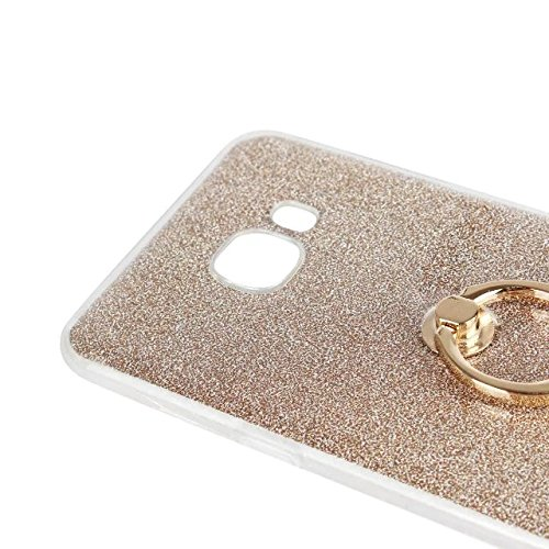 Luxus Bling Sparkle Style Case, Soft TPU [Silikon] Flexible Glitter Back Cover mit Fingerring Stand [Anti Scratch] [Shockproof] für Samsung Galaxy C5 ( Color : White ) White