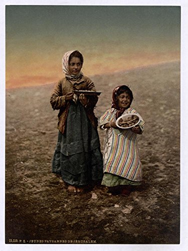 Historic Photos Native children from neighborhood of Jerusalem, Holy Land by Historic Photos