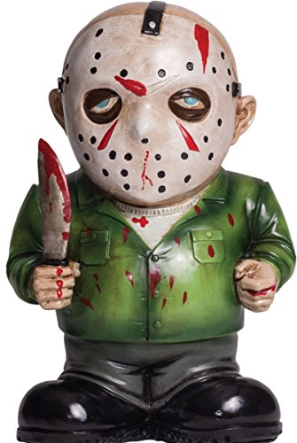 Morbid Enterprises Jason Boorhees Lawn Gnome, Green/Black/White/Red/Blue/Silver, One Size -