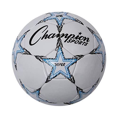Champion Sports VIPER5Viper–Balón de fútbol, tamaño 5, color blanco (CSIVIPER5)