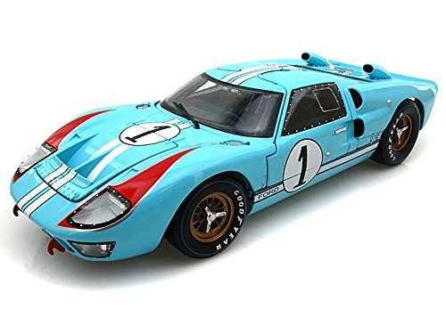 1966 Ford GT40 Mark II #1 Le Mans Miles/Hulme 1/18 Gulf Blue (Clean version)