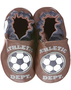 Infant Toddler Boys Slip on Shoes Fussball Brown