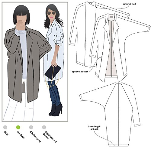 Style Arc Sewing Pattern - Riley Coat (Sizes 18-30) - Click for Other Sizes Available