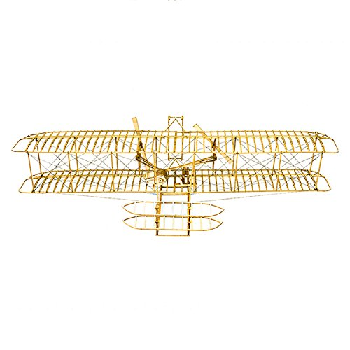 HITSAN Wright Flyer1903 Balsa Wood 510mm Wingspan Airplane Model Kit One Piece by HITSAN (Image #4)
