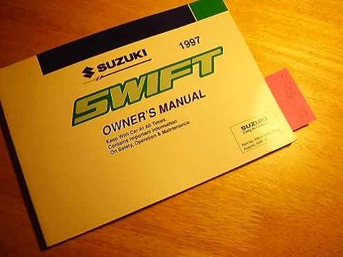 1997 suzuki swift owners manual suzuki amazon com books rh amazon com manual book suzuki swift bahasa indonesia 2017 Suzuki Swift
