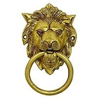 Decorative Lion Face Brass Metal Door Knocker Traditional Home Decors Indian Art