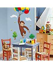 RoomMates Curious George Peel and Stick Giant Wall Decal - RMK1082GM,Multi