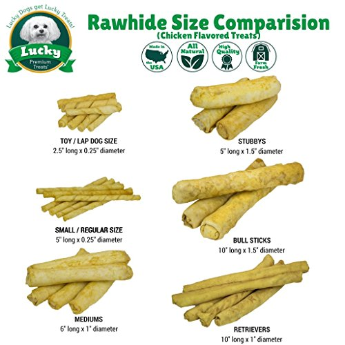 Pictures of Lucky Premium Treats Chicken Basted Rawhide Dog 2