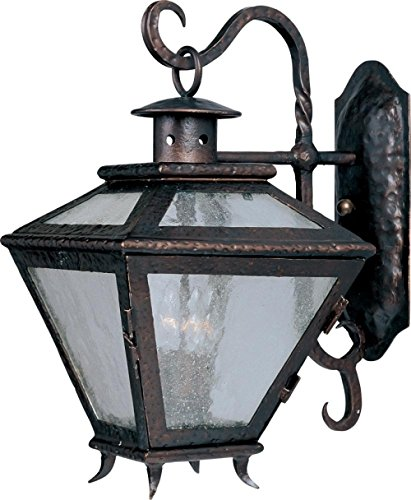 Maxim 30244ALCF, Cabo Incandescent Outdoor Wall Mount, 3 Light, 60 Watts, Country Forge ()