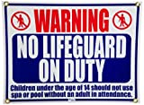 Pentair R230500 No Lifegard On Duty Pool and Spa Sign