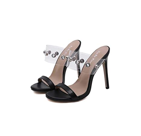 985cd838ccfda Amazon.com : GHFJDO Women Lucite Clear Pointed Open Toe Shoes ...